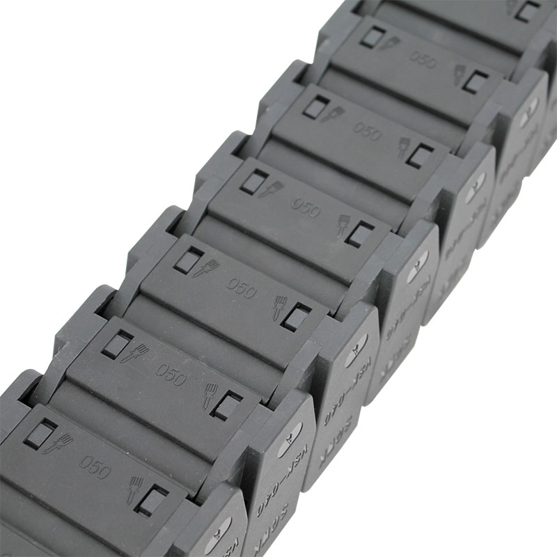 Factory wholesale Dust-Free Cable Chain - 40*50 mm reinforced nylon high speed muted cable drag chain – Anjie Featured Image