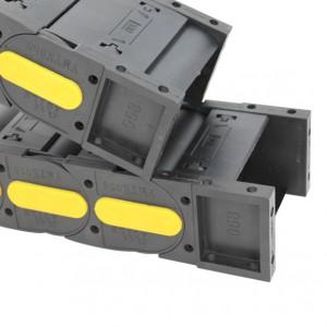 58*100 VMTK series enclosed moisture resistant reinforced nylon drag chain