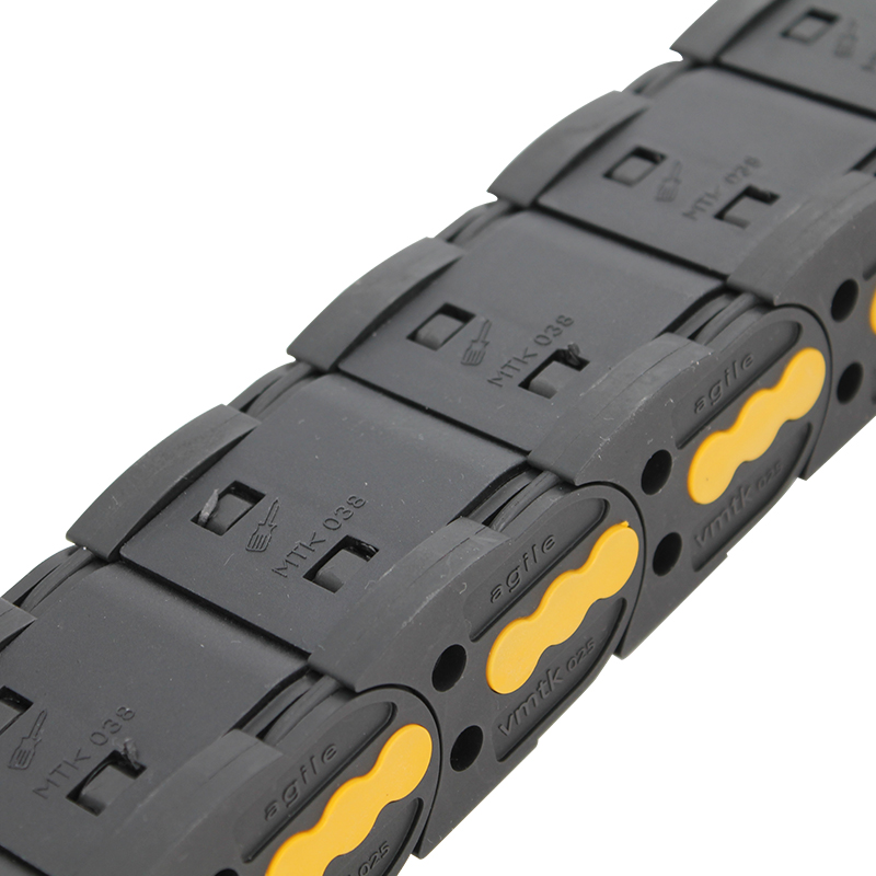 Reasonable price Mini Cable Chain - 25*38 mm VMTK plastic PA6 enclosed dust-free cable chain – Anjie