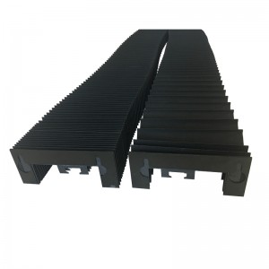 cnc nylon leather horizontal vertical flexible dust bellow cover