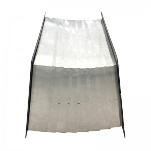steel metal square telescopic accordion cylinder dust bellow cover