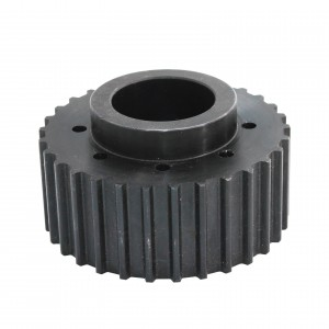 customized carbon steel synchronous belt wheel pulley gear