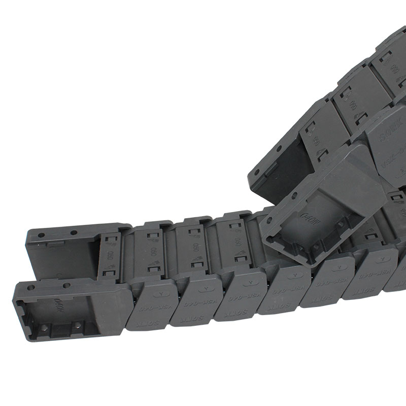 Factory wholesale Dust-Free Cable Chain - 40*50 mm reinforced nylon high speed muted cable drag chain – Anjie