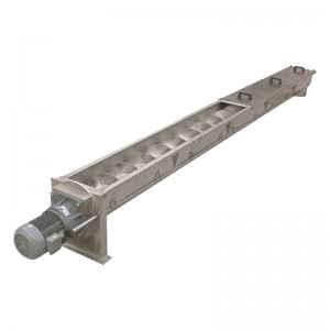 spiral swarf or wood helix screw chip conveyor